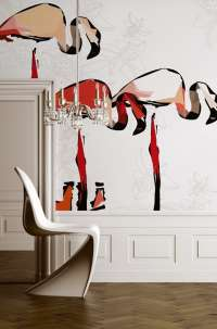 Tapeta Wall & Deco Flamingo dada
