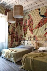 Tapeta Wall & Deco Pencil birds