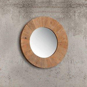 lustro z drewna