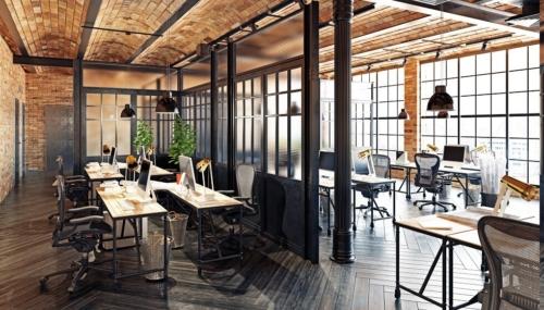 projekt powierzchni biurowej